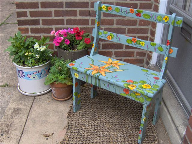 Tiger Lily Bench 2007 Sold