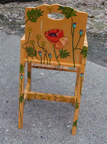 "Poppy Chair 2008, 22"" x 7"" x 11"" $60"