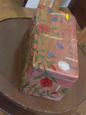 "Wooden Box 2008, 9"" x 4.5"" x 4.5"" Sold"