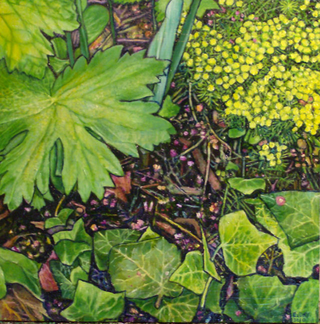 """A Patch Of Earth #2 (2010, 12"""" x 12"""", oil on masonite) Sold"""