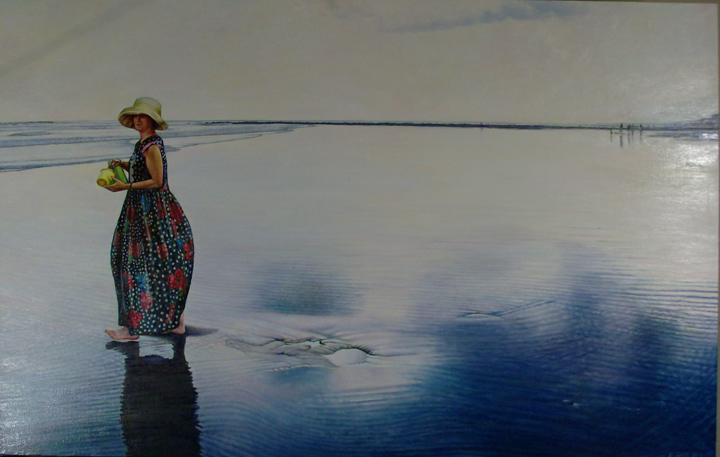 "End Of The Beach Day (2011, 42"" x 33"") Sold"