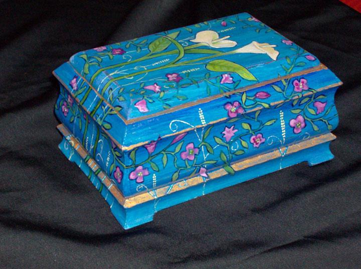 """Calla Lily Box 2008, 4.5"""" x 7"""" x 3.5"""" Sold"""