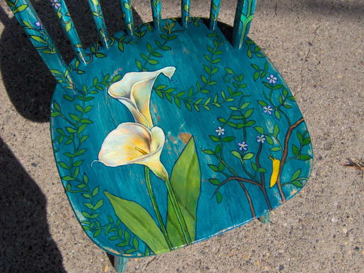 Calla Lily Chair 2007 Sold