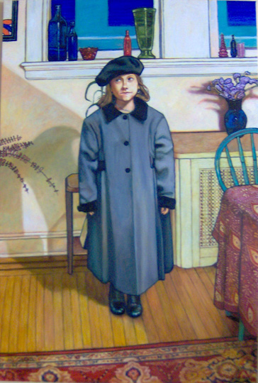 "The Little Girl from Cork (2006, 30"" x 45"") Sold"