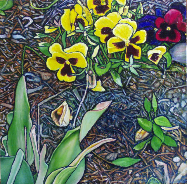 """A Patch Of Earth #3 (2010, 12"""" x 12"""", oil on masonite) Sold"""