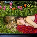 "Hazel and Stella (2006, 24"" x 18"") Sold"