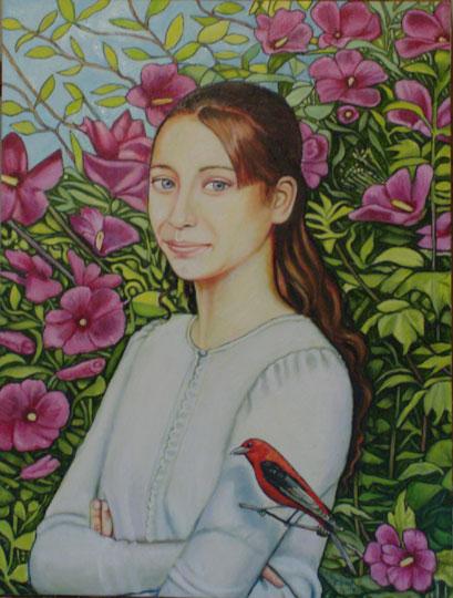 """Adrienne (2008, 18"""" x 24"""")"""