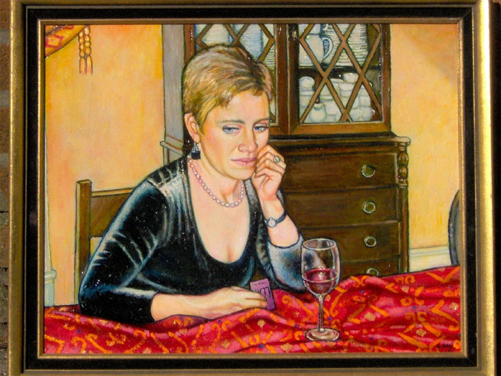 """After the Dinner (2006, 20"""" x 18"""") Sold"""