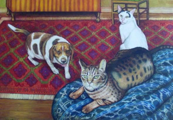 """Becky's Pets (2007, 18"""" x 26"""") NFS"""