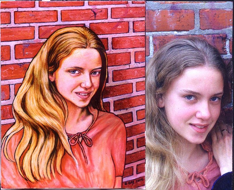 "Hannah #2 (2004, 18"" x 24"")"