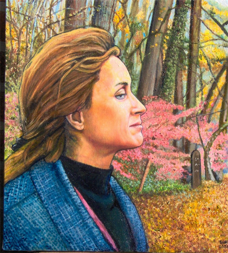 """In the Wissahickon (2006, 16"""" x 17"""") Sold"""