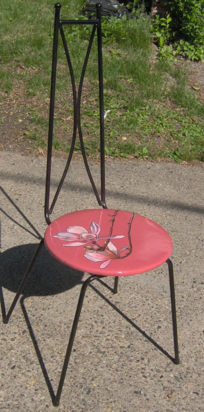 "Two Magnolia Chairs 2007, 40"" high Sold"