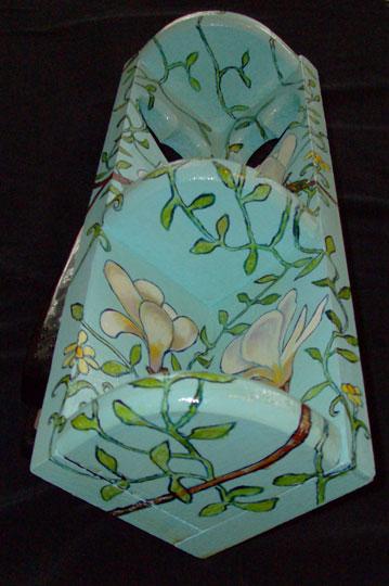 """Magnolia Corner Shelf 2008, 16"""" high, Sold"""