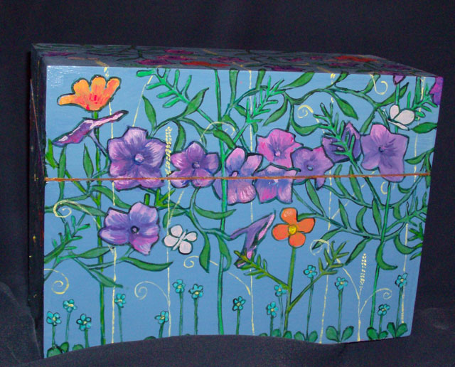 "Morning Glory Box 10"" x 4"" x 7.5"" $50"