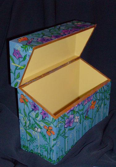 "Morning Glory Box 10"" x 4"" x 7.5"" $50"
