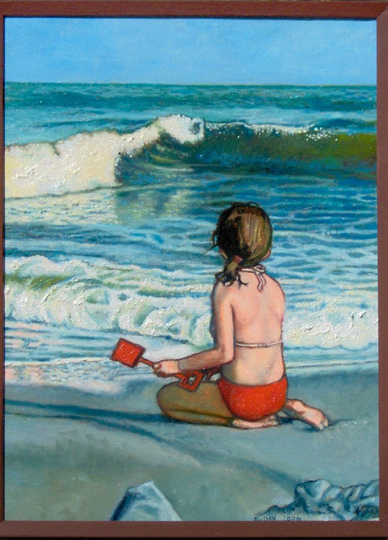 """By The Sea #1 (2006, 9"""" x 16"""") Sold"""