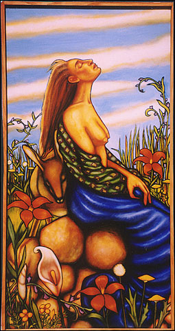 Sitting on a Rock (1995, 24x48) Sold