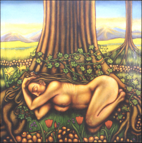 Beneath the Tree (1997, 50 X 50) Sold