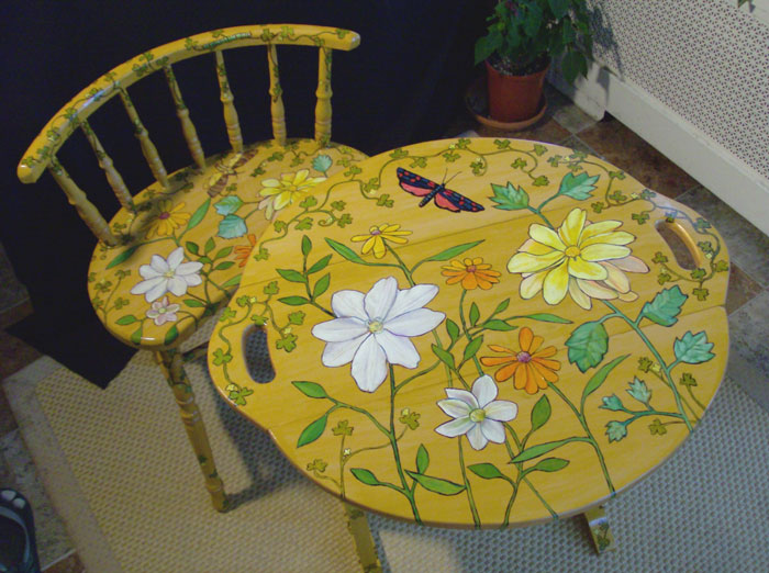Moth Table & Chair (2010) $290/set, $160/each