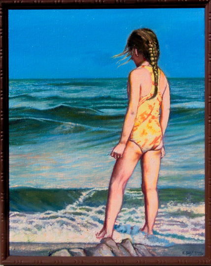"""By The Sea #2 (2006, 11"""" x 14"""") Sold"""