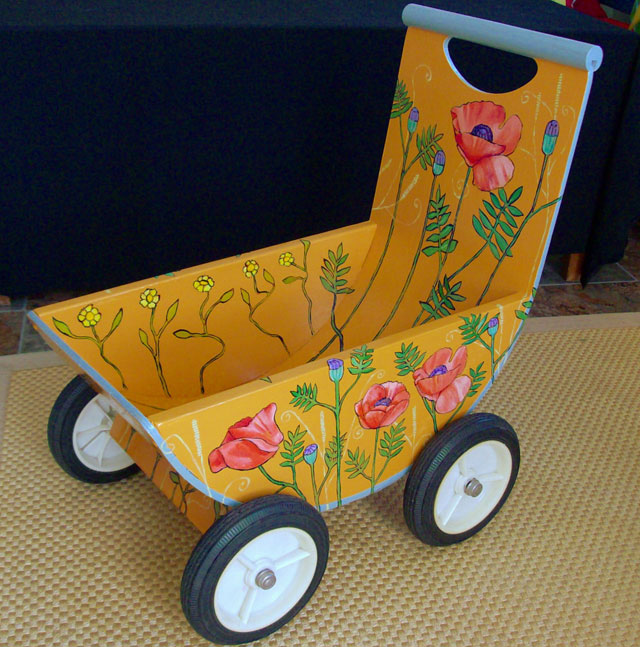"Poppy Doll's Buggy 23"" x 20"" 11.5"" $160"