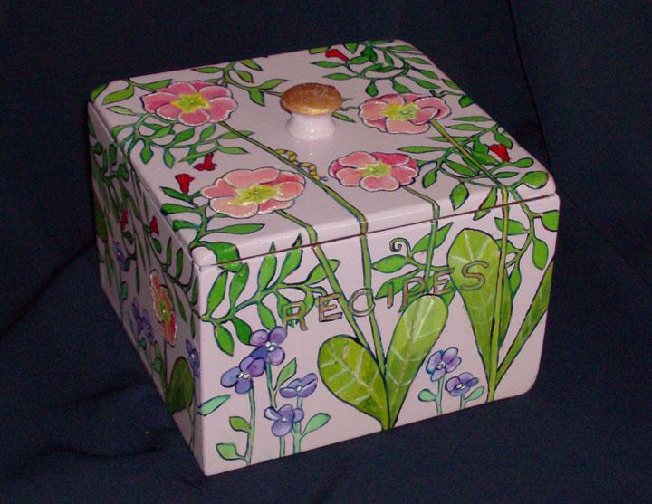 "Primrose Recipe Box 6"" x 6"" 4.5"" Sold"