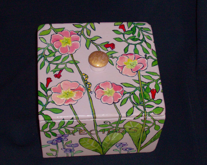 "Primrose Recipe Box 6"" x 6"" 4.5"" Sold"