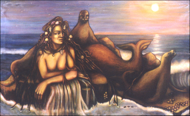 "The Selkie (2000, 66"" x 40"") $1,500"