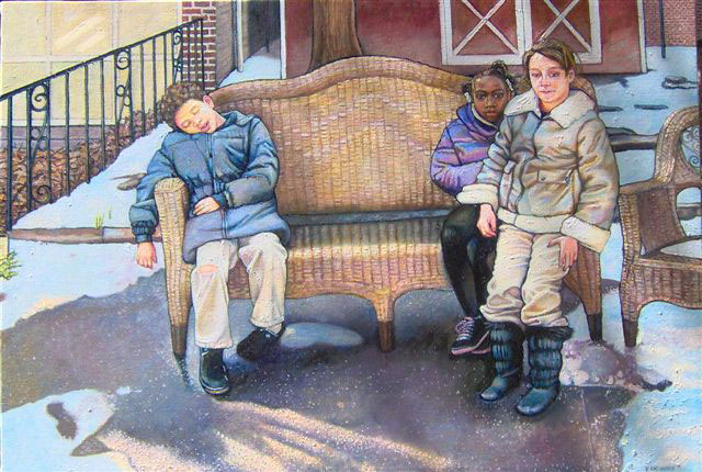 """Waiting For Spring (2007, 36"""" x 28"""") $1,500 (Available for loan)"""