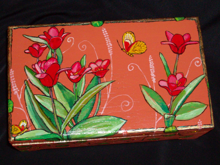 "Red Tulip Box 2008, 9"" x 5.75"" 2"" $35"