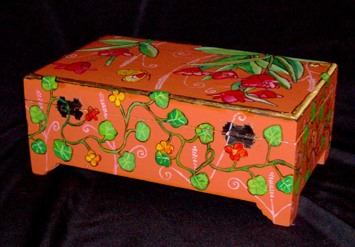 """Red Tulip Box 2008, 9"""" x 5.75"""" 2"""" $35"""