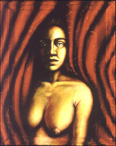 The Red Curtain (2001, 18 x 24) Sold