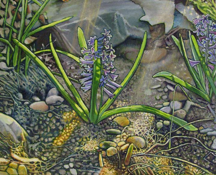 "Hyacinth (2008, 15"" x 12"") Sold"