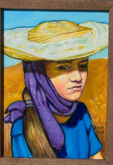 """Mexican Girl (2006, 5"""" x 7"""") Sold"""