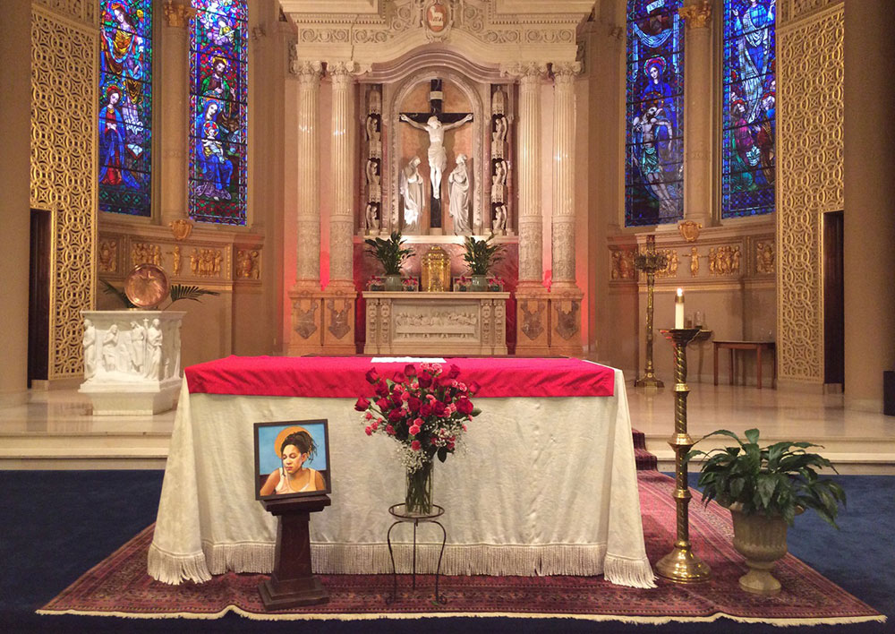 'St. Agnes' installed in the St. Agnes church in San Francisco