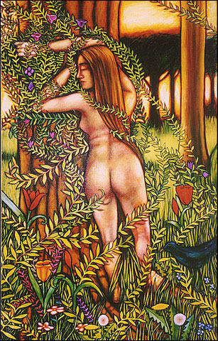 "Woman and Spring #2 (2003, 34"" x 57"") Sold"