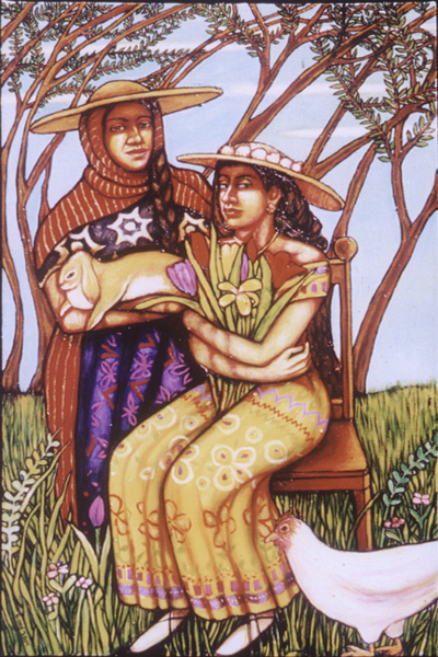 """The Sisters (2004, 26"""" x 37"""") Sold"""