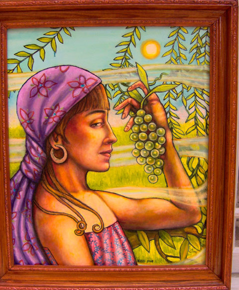 """The Green Grapes (2005, 20"""" x 24"""") Sold"""