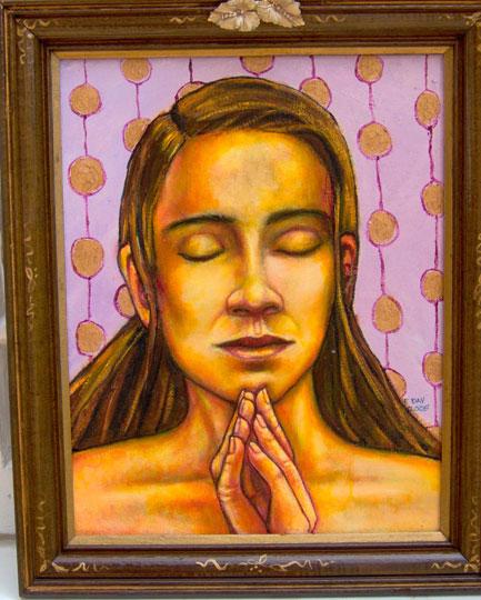 "The Prayer (2005, 11"" x 14"") Sold"