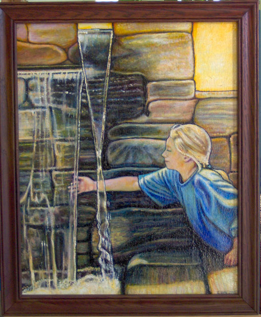 """The Little Fountain (2005, 16"""" x 20"""") Sold"""