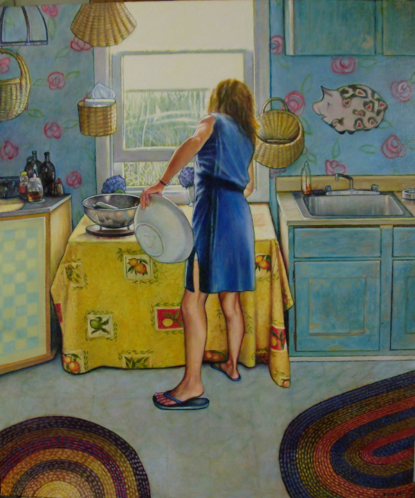 "Cape May Kitchen (2013, 26"" x 35"") SOLD"
