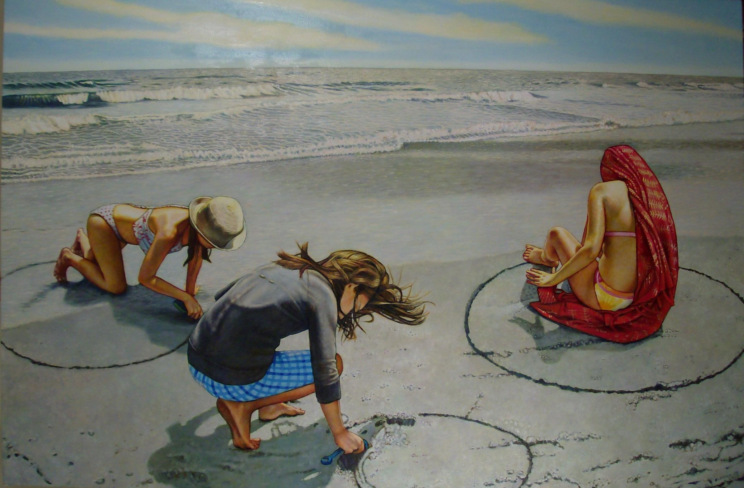 """Drawing Circles (2009, 60"""" x 40"""") Sold"""