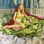 """Girl In The Yellow Dress (2013, 36""""x27"""") Sold"""