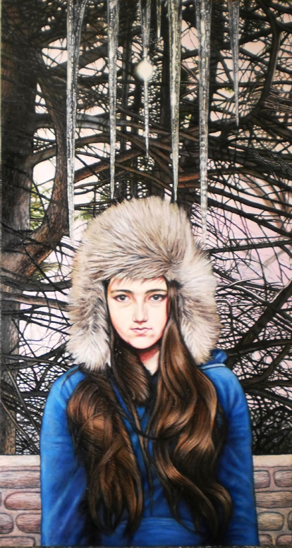 "Icicles (2013, 20"" x 33"") $1,900 (Available for loan)"