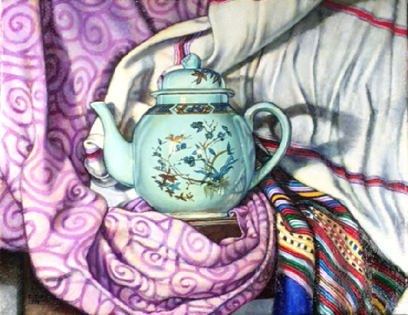 """Teapot #1"", 2017, oil on canvas, 11""x14"", Sold"