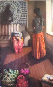 """Forced to Flee"", 29"" x 45"", oil on canvas $3,500.00"